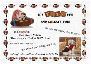 SOAPS Fall Fun and Tailgate @ Canape, Downtown Vidalia